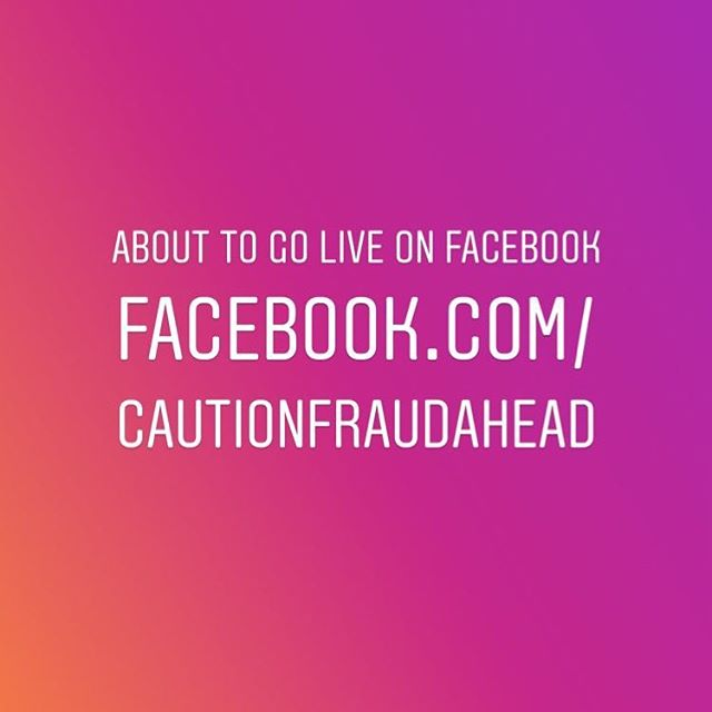 Go to our Facebook page — we're about to give a live update. #CautionFraudAhead #HelpIsOnTheWay