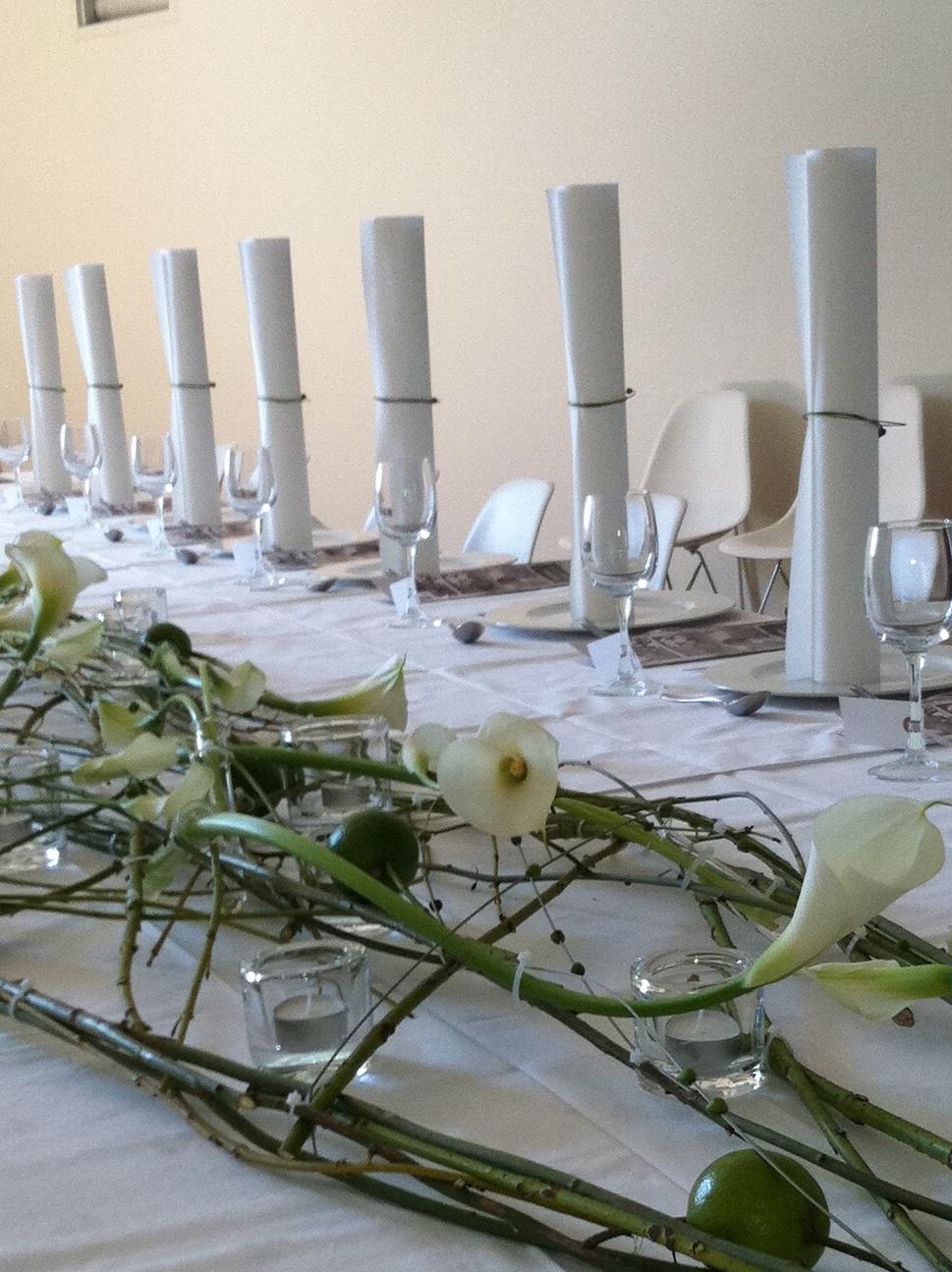 Dekket bord til fest på Kulturbruket