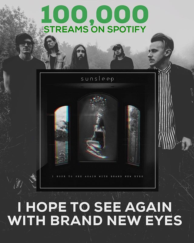 "We've hit 100,000 streams on ""I Hope To See Again With Brand New Eyes"" on Spotify today! Thank you so much 🙌🏻 🏆✨💥"