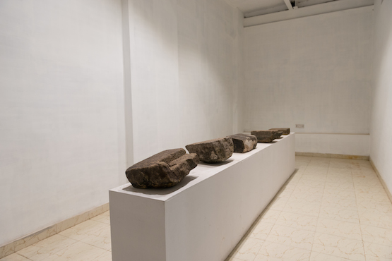 Image: Sissel Tolaas, Fear, 2014, stones and replicated body smell, dimensions variable. Kochi Biennale Foundation