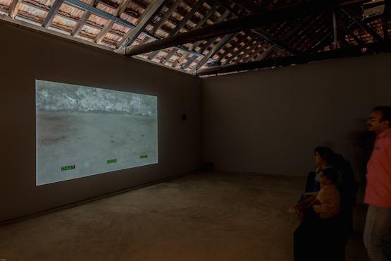 Image: Yang Zhenzhong, 922 Rice Corns, 2000 at Aspinwall House, Fort Kochi. Video, colour, sound, 8 min. Kochi Biennale Foundation.