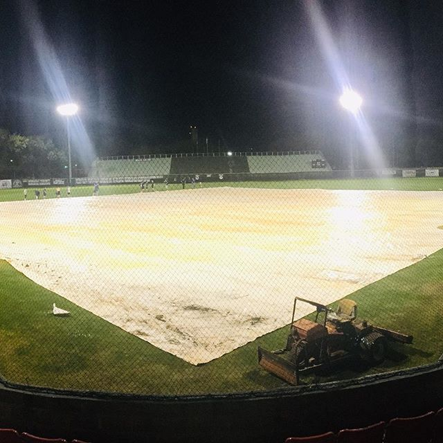Last minute prep work before the lights are turned off on the eve of the 29th Annual IP Classic.