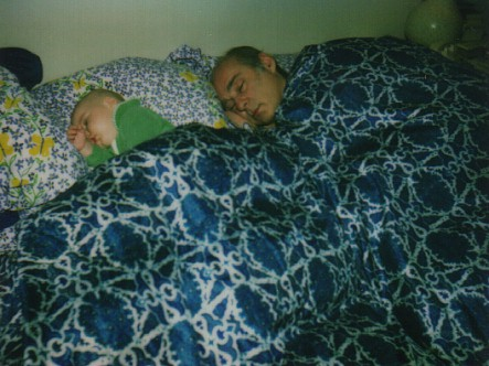 snoozing with my dad