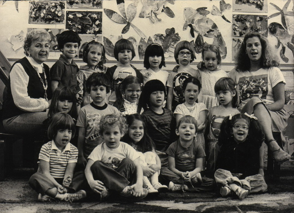 nursery school class photo