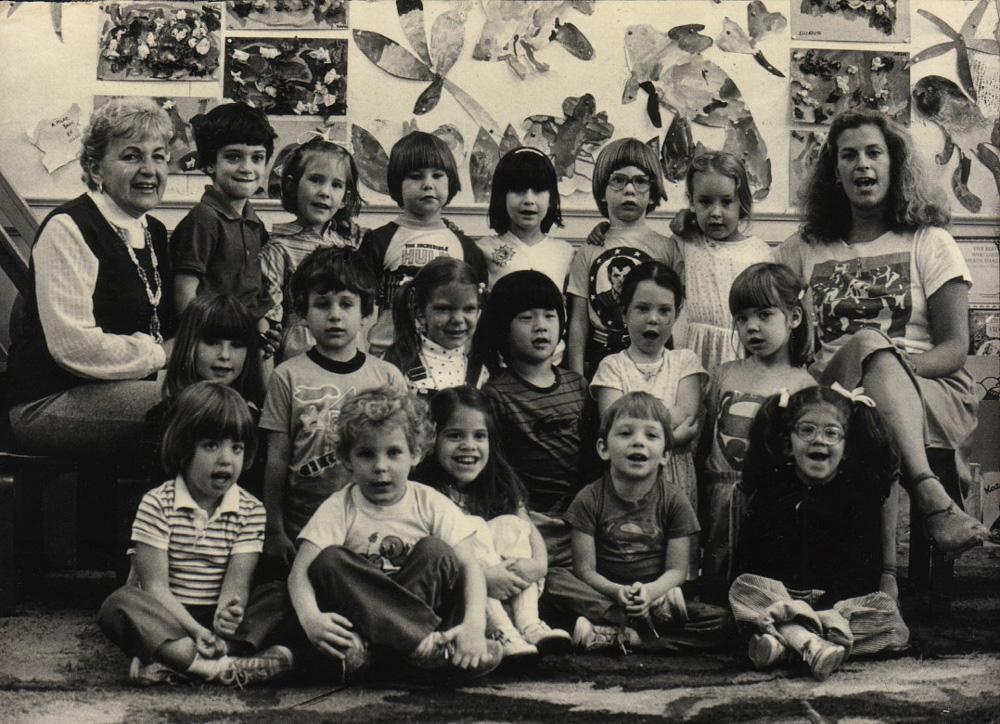 nursery school class photo