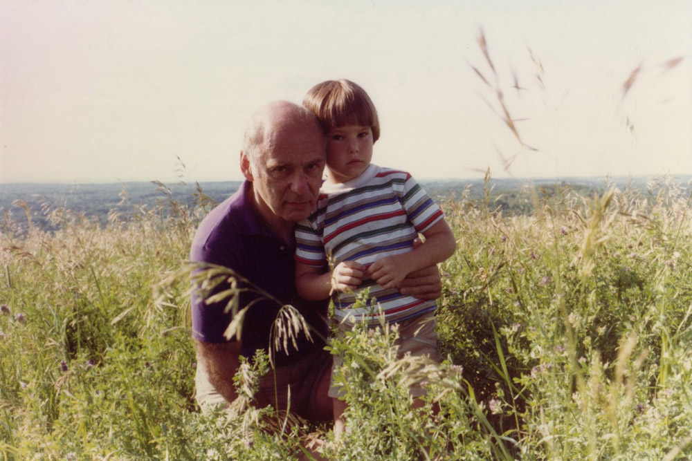 with my dad in upstate NY