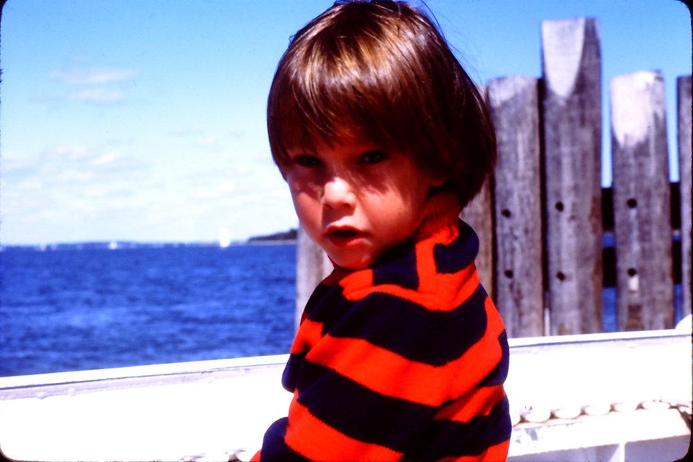 riding the north ferry to Shelter Island, NY