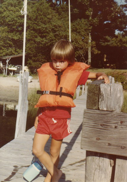 not happy about being forced to wear a life jacket