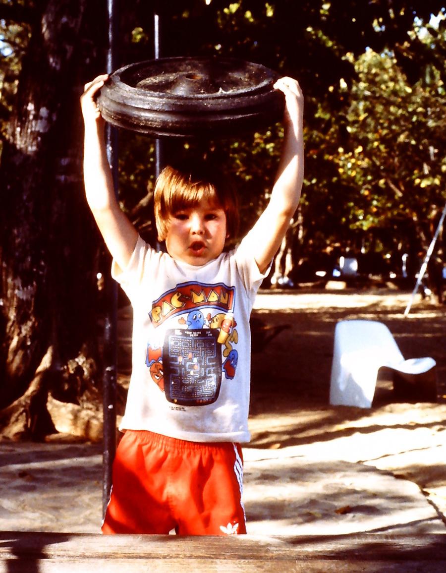 lifting something heavy