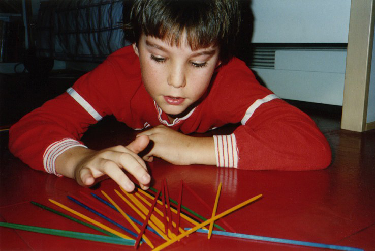 playing pick-up-sticks