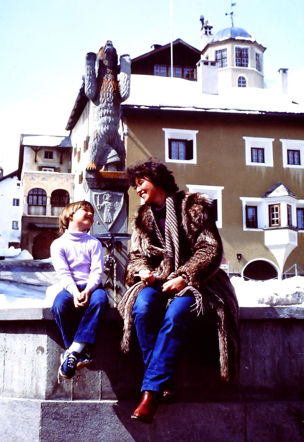 with my mom in Zuoz, Switzerland