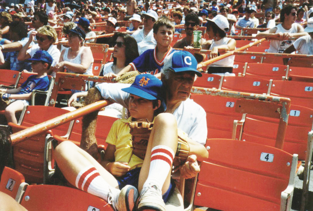 with my dad at Shea Stadium