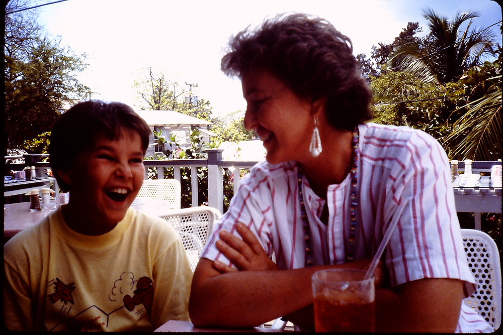 with my mom in Key West