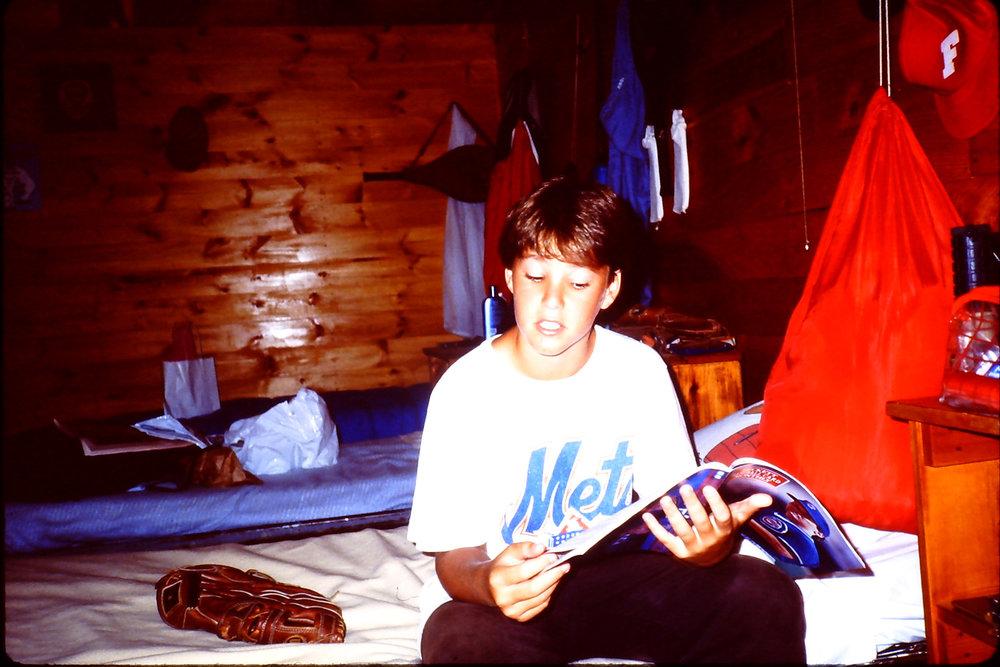 in my cabin at sleepaway camp