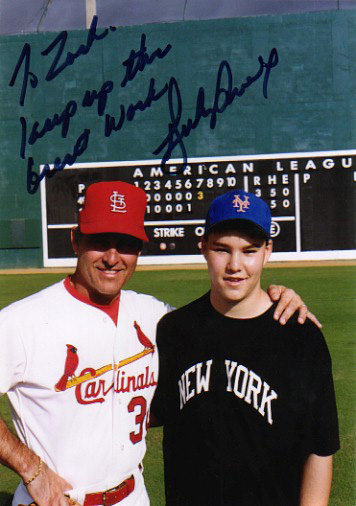 with Bucky Dent at his baseball school in Florida