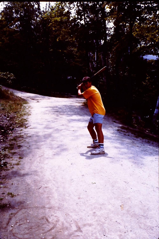 wishing the path near my cabin were a baseball field