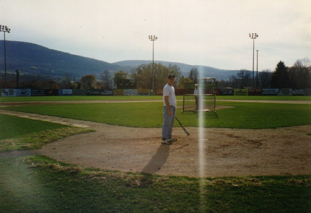 taking BP at the empty (and unlocked) Damaschke Field