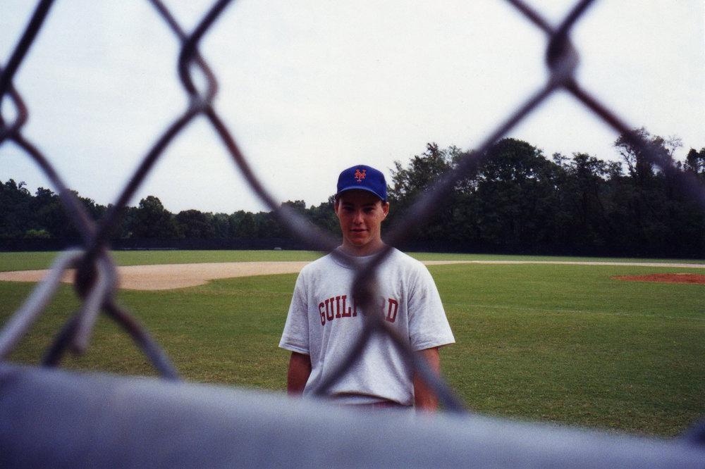 on the baseball field