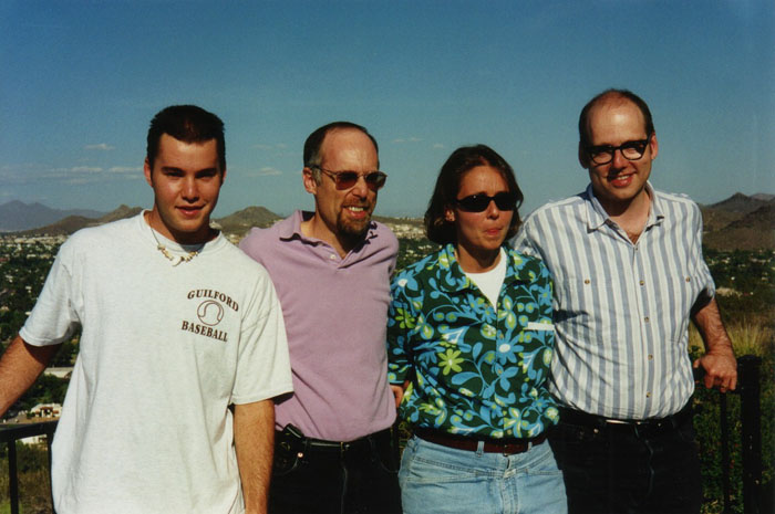 in Arizona with my three siblings: Joe, Martha, and Henry