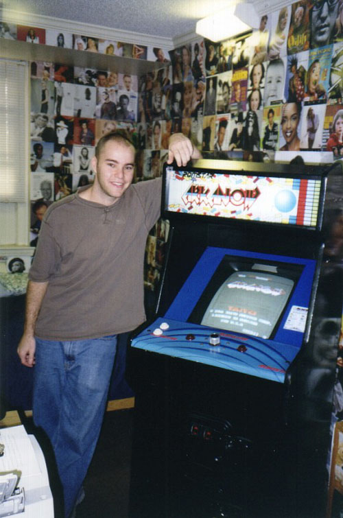 in my dorm room with my Arkanoid machine
