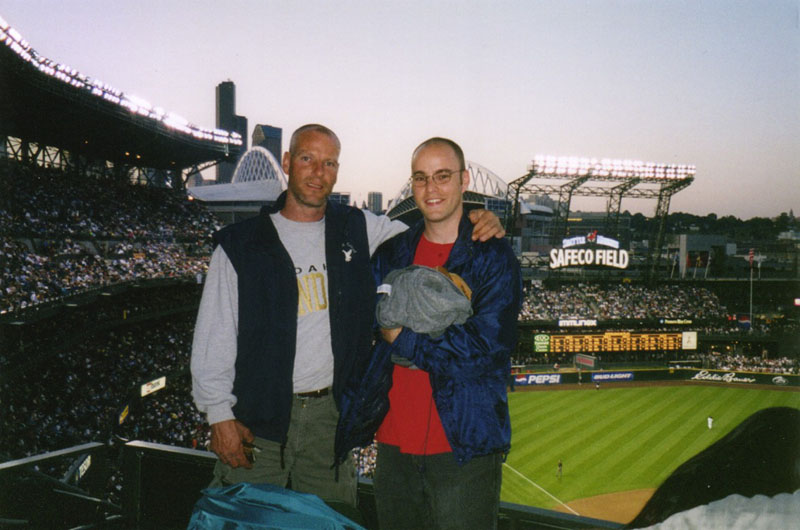 at Safeco Field with my friend Joe