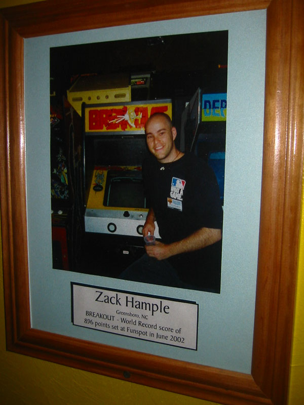 world record on Breakout commemorated at Funspot in New Hampshire