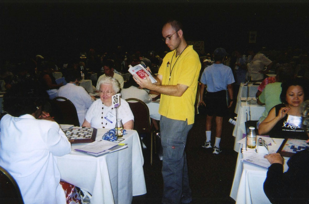 word-judging at the National Scrabble Championship in San Diego
