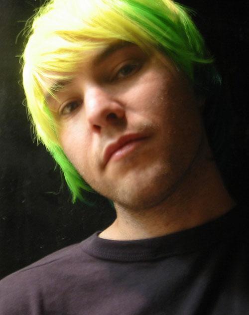 wearing a wig