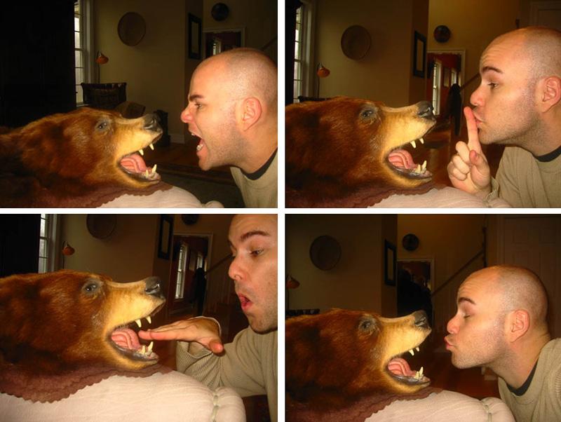 teasing a dead animal