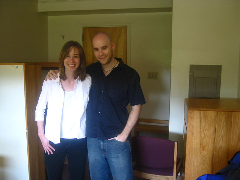 visiting my old college dorm room with my old friend Rachel