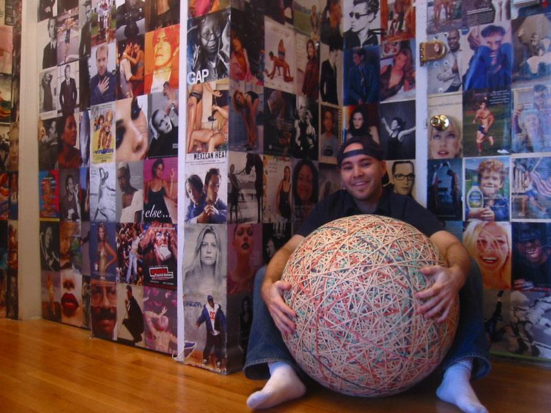 200-pound rubber band ball