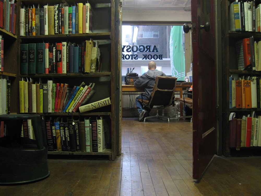 working at the Argosy Book Store