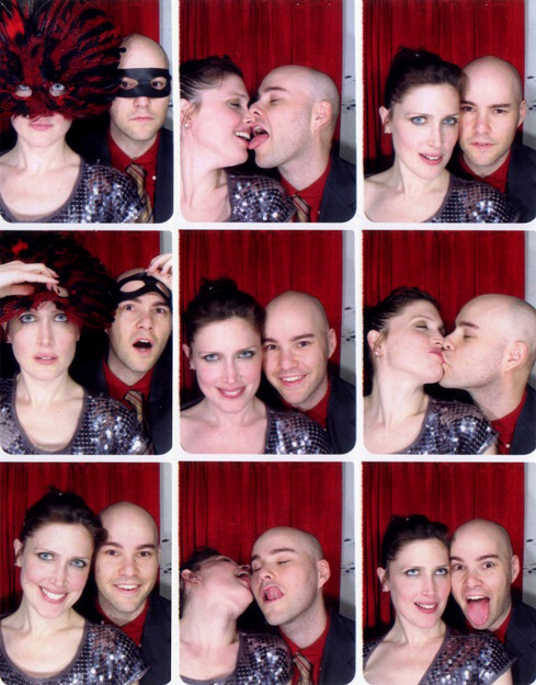 with my girlfriend Jona in a photo booth