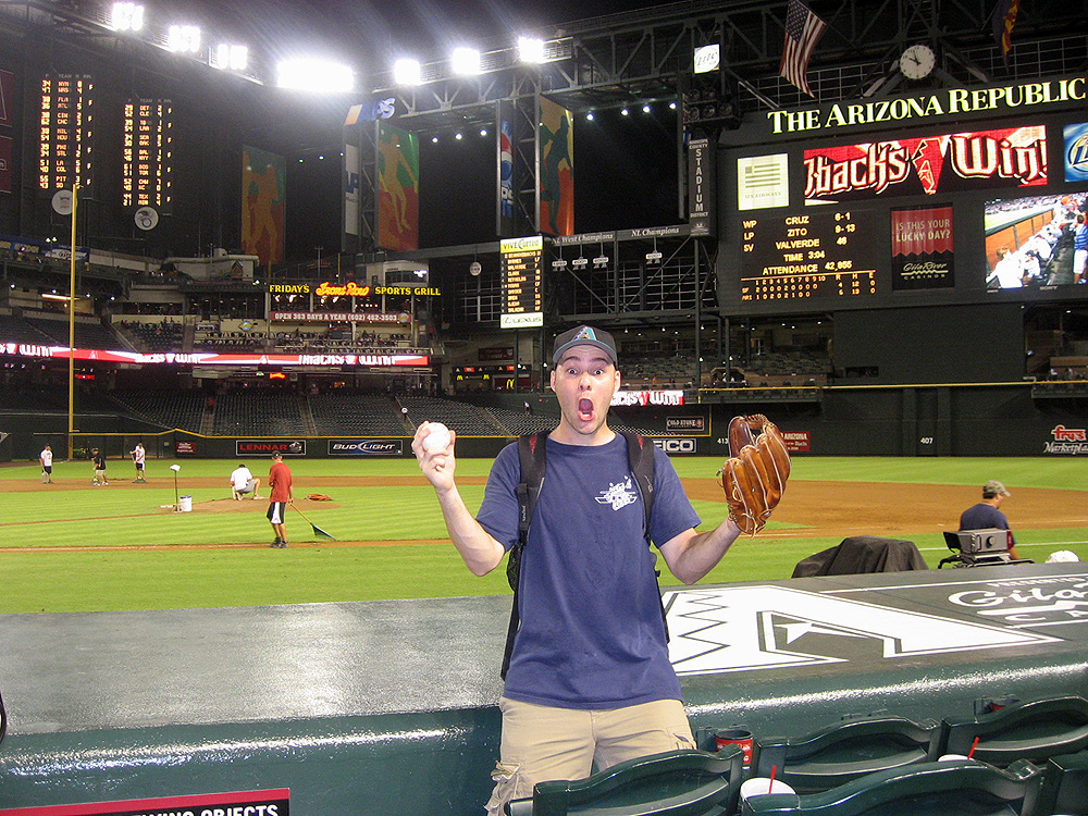 at Chase Field with my 21st ball of the day (!!)