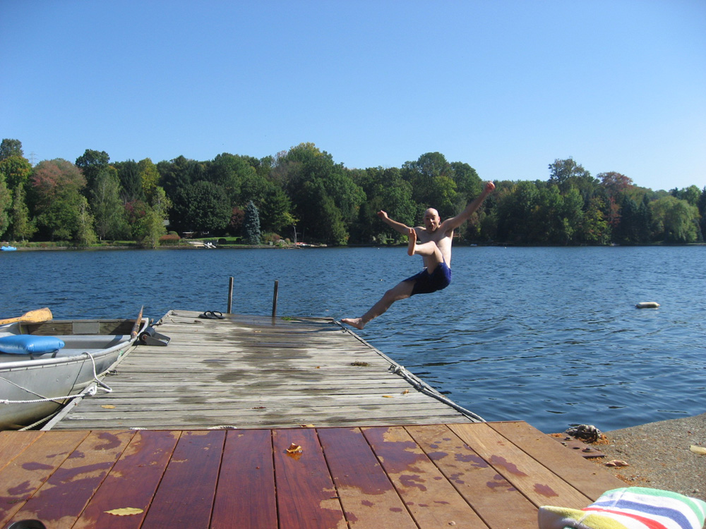 silliness at the lake