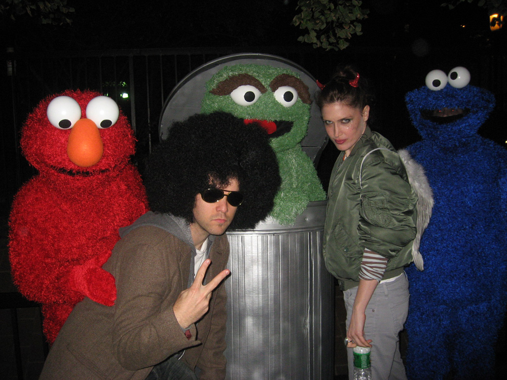 with Jona (and pervy Elmo) on Halloween