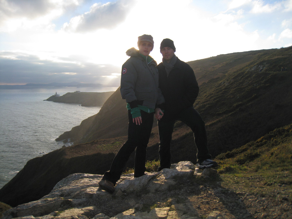 with Jona on the eastern coast of Ireland