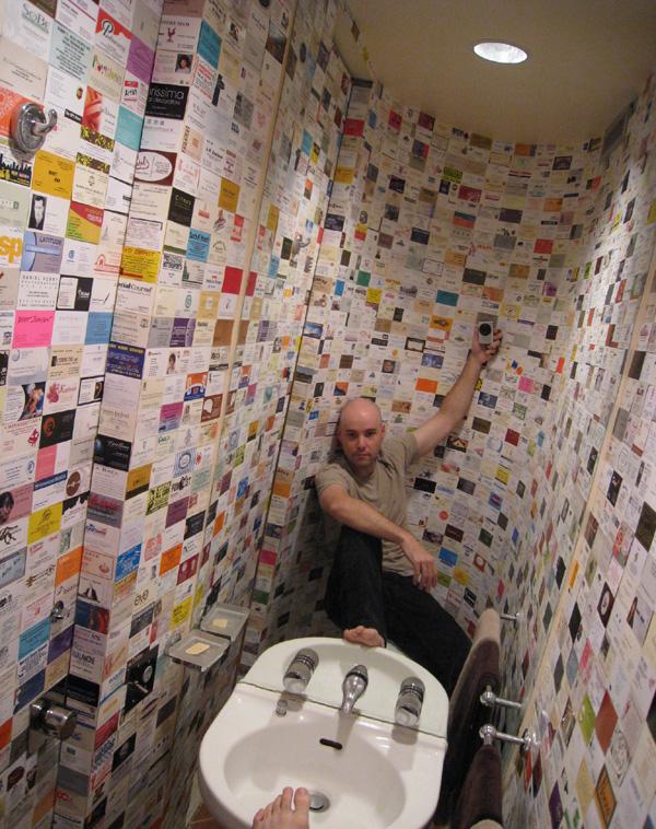 half-bathroom fully decorated