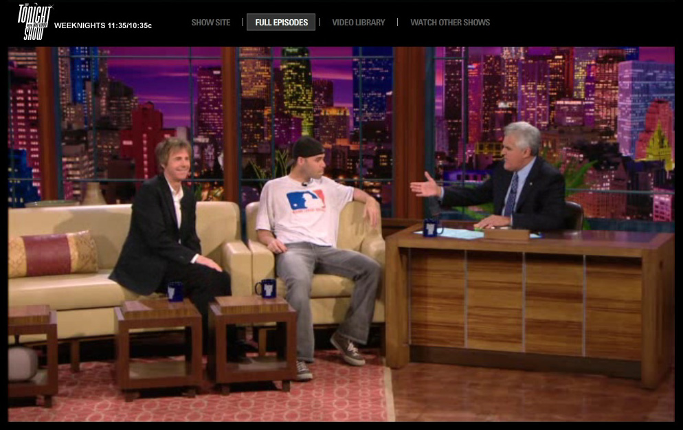 "screen shot from my ""Tonight Show"" appearance"