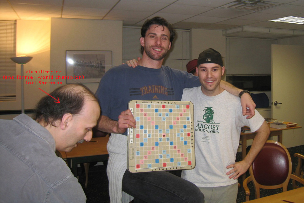 with my friend Leon Feingold at the NYC Scrabble club