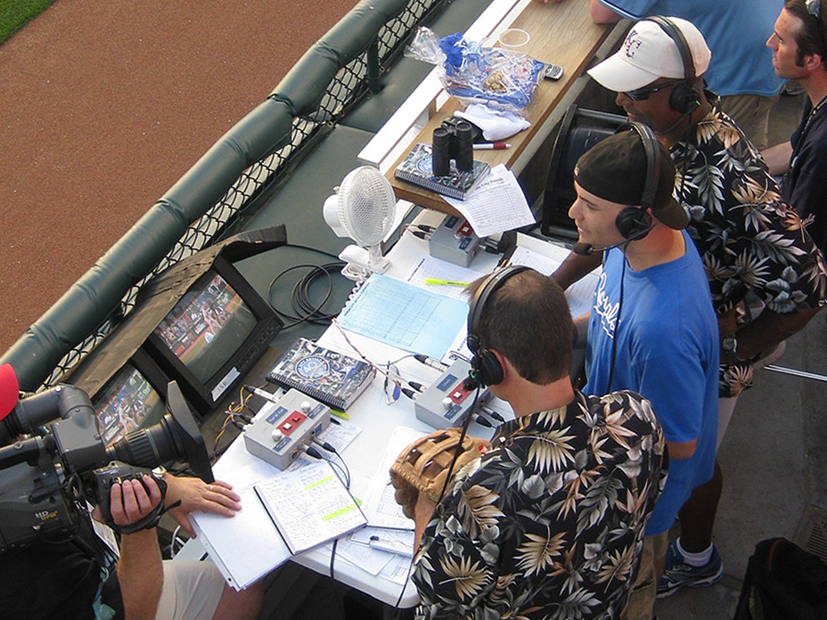 live TV interview during a Royals game