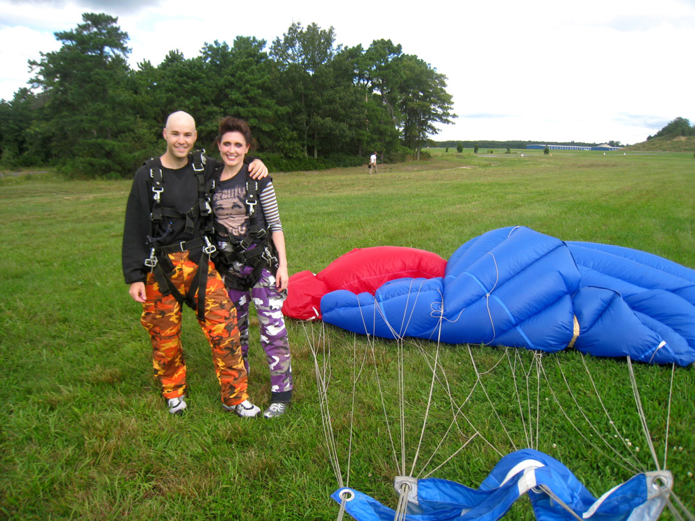 with Jona after skydiving
