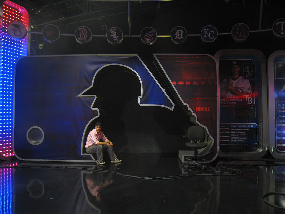 at the MLB Network studios in Secaucus, New Jersey