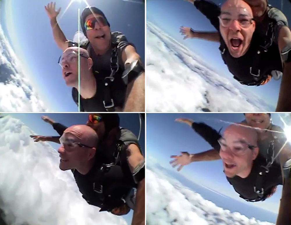 skydiving above the Jersey Shore