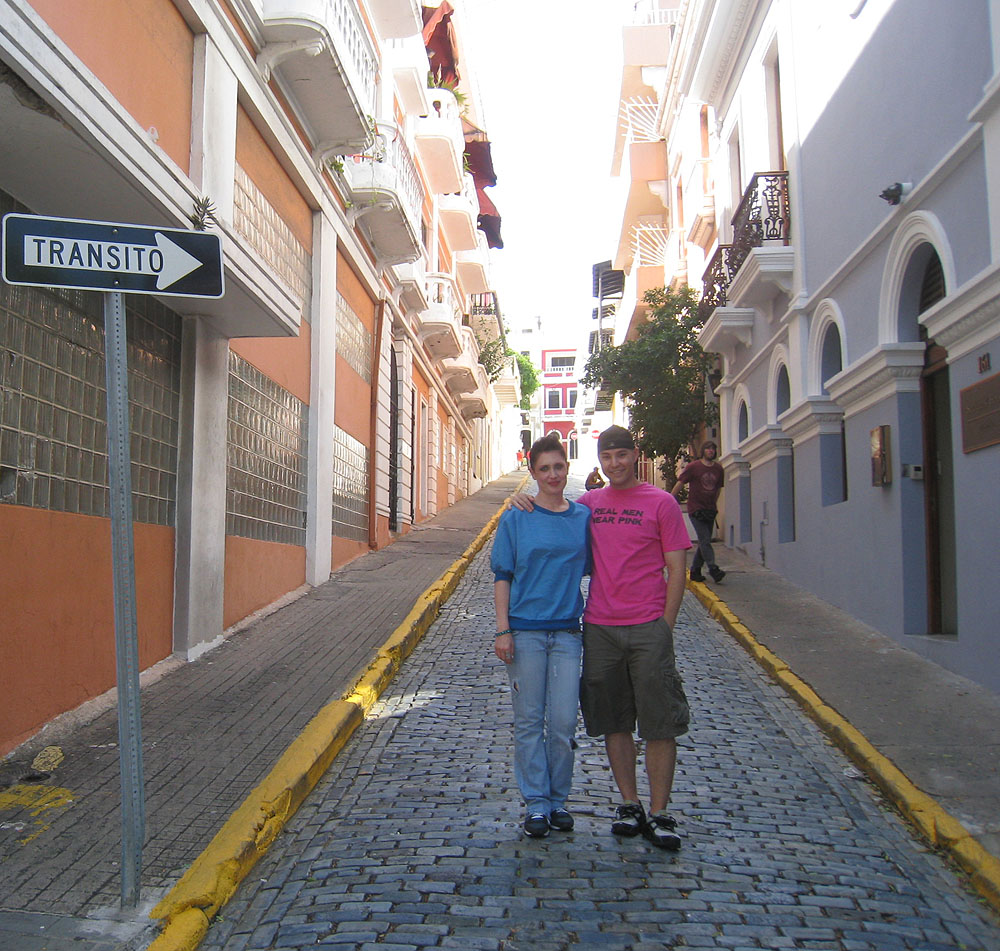 with Jona in Old San Juan