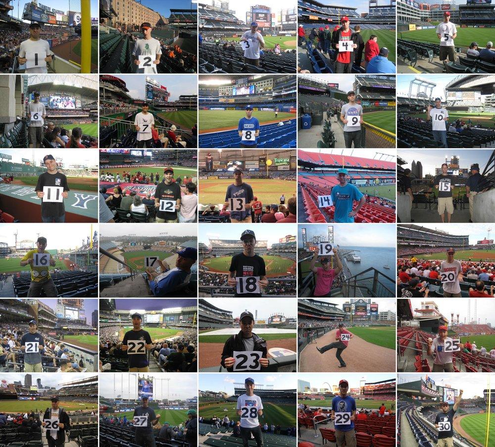 1 season, 30 stadiums