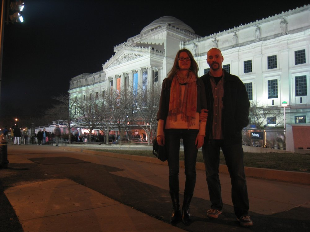 with Robin at the Brooklyn Museum