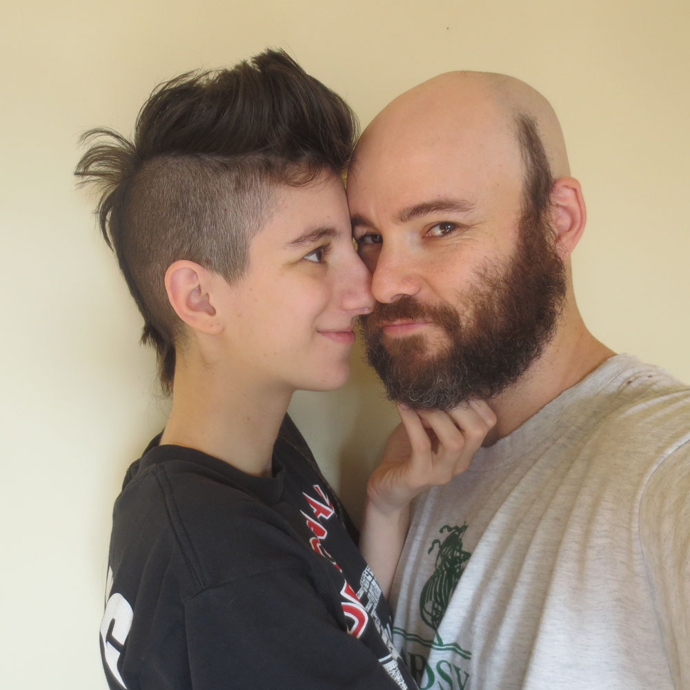 I made Hayley shave her head; she made me grow a beard