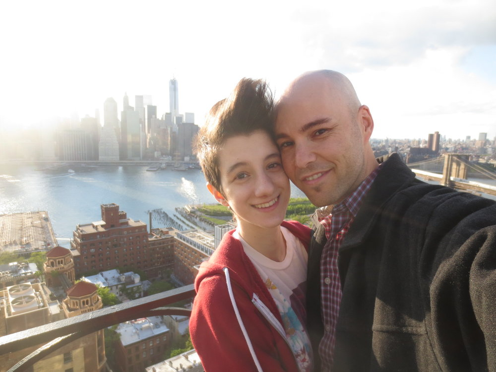 with my girlfriend Hayley on a roofdeck in Brooklyn