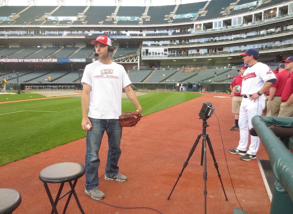 MLB Network interview at Progressive Field